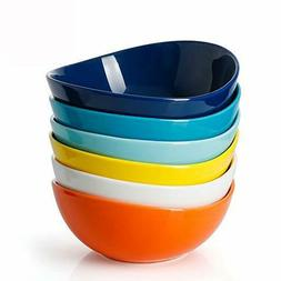 Sweese 102.002 Porcelain Bowls - 18 Ounce for Cereal, Salad,