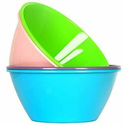 Plastic Cereal Soup Bowls Salad Bowl Unbreakable BPA Free Re