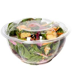 Plastic Salad Bowls To-Go With Airtight Lids, Salad Contain