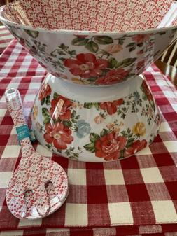 THE PIONEER WOMAN VINTAGE FLORAL SALAD SERVING 1-BOWL ONLY &
