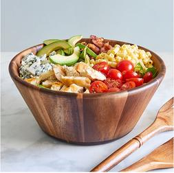 Pampered Chef Wood Salad Bowl ~ Makes The Simplest Salad Loo